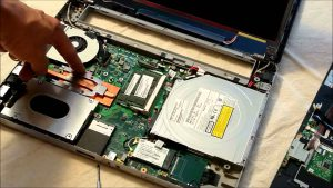 laptop being repaired by north myrtle beach technician